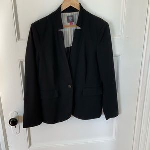 Vince Camuto Black Blazer; Notch Collar; Size 12